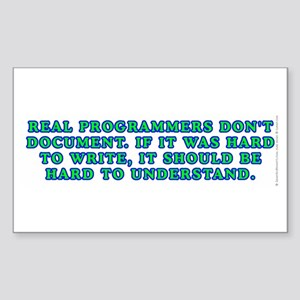 Real programmers Sticker (Rectangle)