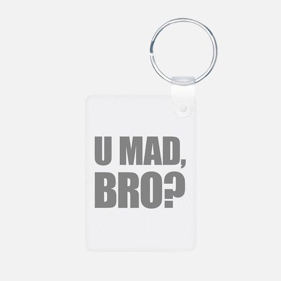 U Mad, Bro? Aluminum Photo Keychain