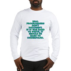 Real programmers - Long Sleeve T-Shirt