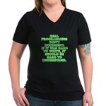 Real programmers - Women's V-Neck Dark T-Shirt