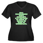 Real program Women's Plus Size V-Neck Dark T-Shirt