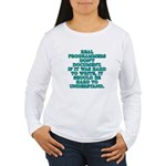 Real programmers - Women's Long Sleeve T-Shirt