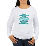 Real programmers - Women's Long Sleeve T-Shirt
