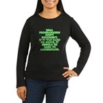 Real programmers Women's Long Sleeve Dark T-Shirt
