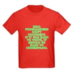 Real programmers - Kids Dark T-Shirt