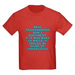 Real programmers - Kids Dark T-Shirt