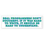 Real programmers - Sticker (Bumper)
