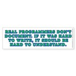 Real programmers - Sticker (Bumper 10 pk)