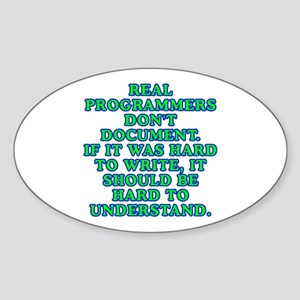 Real programmers - Sticker (Oval)