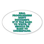 Real programmers - Sticker (Oval 10 pk)