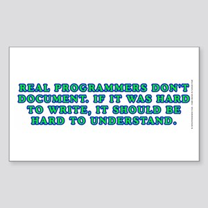 Real programmers - Sticker (Rectangle)
