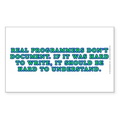 Real programmers - Sticker (Rectangle 10 pk)