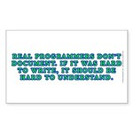 Real programmers - Sticker (Rectangle 50 pk)