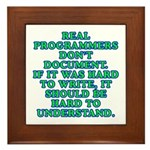 Real programmers - Framed Tile
