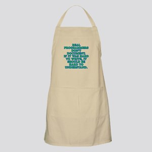 Real programmers - Apron
