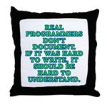 Real programmers - Throw Pillow
