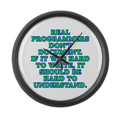 Real programmers - Large Wall Clock