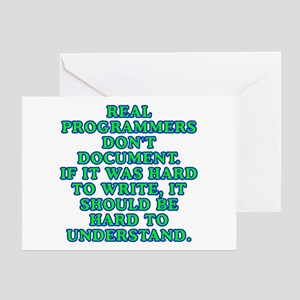 Real programmers - Greeting Card