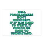 Real programmers - Postcards (Package of 8)