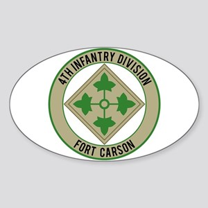 4th Infantry post Sticker (Oval)