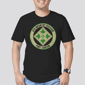 4th Infantry post Men's Fitted T-Shirt (dark)