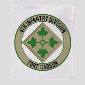 4th Infantry post Throw Blanket
