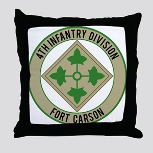 4th Infantry post Throw Pillow