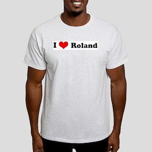 I Love Roland Ash Grey T-Shirt