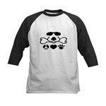 Peace, Love and Puppy Paws Kids Baseball Jersey