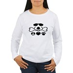 Peace, Love and Puppy Paws Women's Long Sleeve T-S