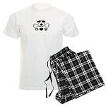 Peace, Love and Puppy Paws Men's Light Pajamas