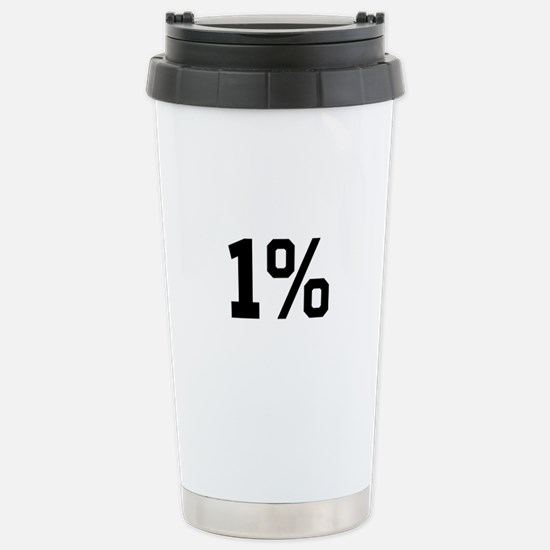 1% Stainless Steel Travel Mug