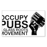 occupy_pub_tshirt_final Sticker