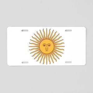 Sol de Mayo Aluminum License Plate