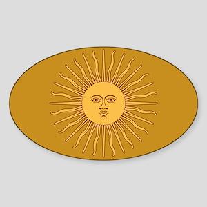 Sol de Mayo Sticker (Oval)