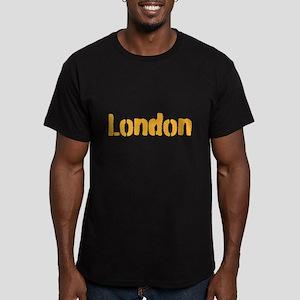 London (gold) Men's Fitted T-Shirt (dark)
