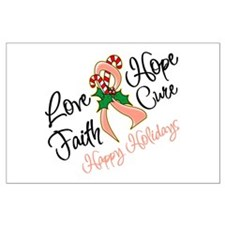 Holiday Hope Uterine Cancer Large Poster
