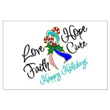 Holiday Hope Thyroid Cancer Large Poster