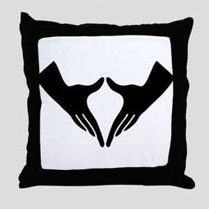 Yoni Mudra Throw Pillow