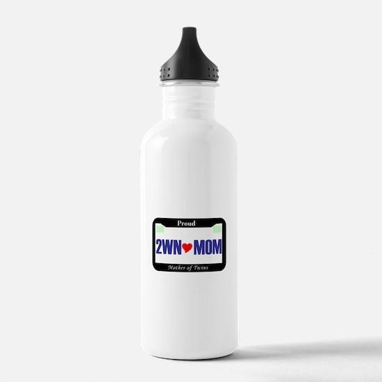 Twin License Plate Water Bottle