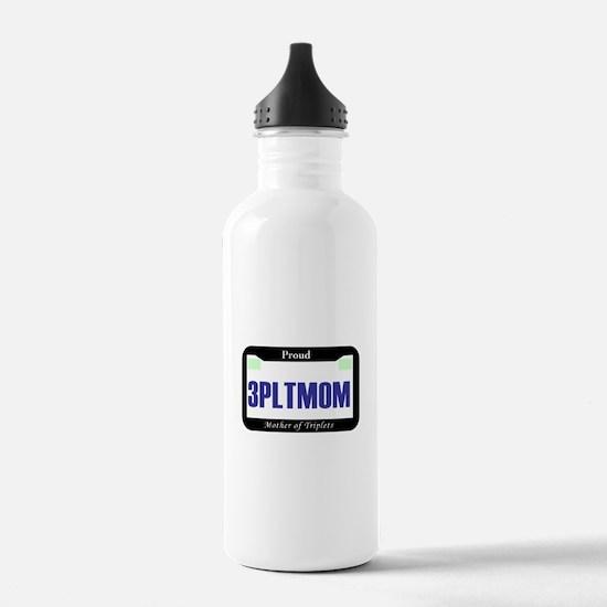 Triplet License Plate Water Bottle