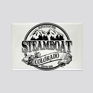 Steamboat Old Circle 3 Rectangle Magnet