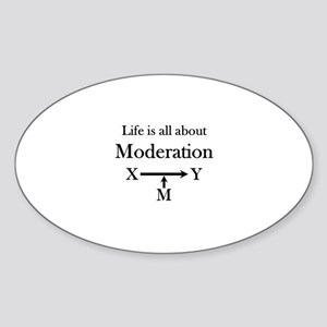 Life is all about Moderation Sticker (Oval)