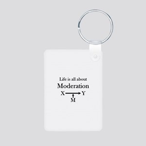 Life is all about Moderation Aluminum Photo Keycha