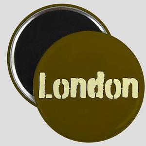 London (Khaki/yellow) Magnet