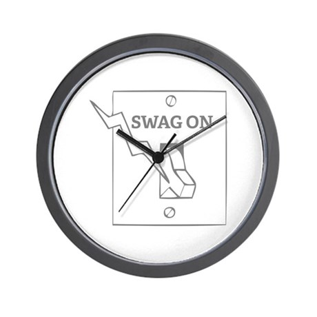Swag On Wall Clock