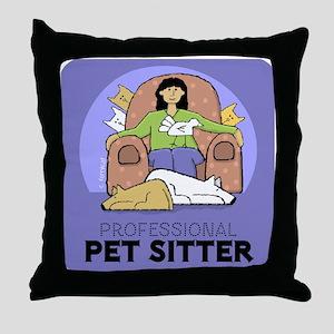 Professional Pet Sitter Throw Pillow