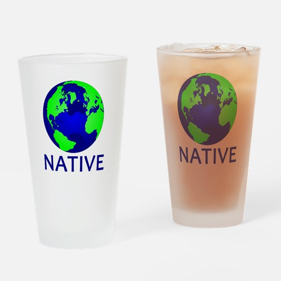Unique Recycle earth Drinking Glass