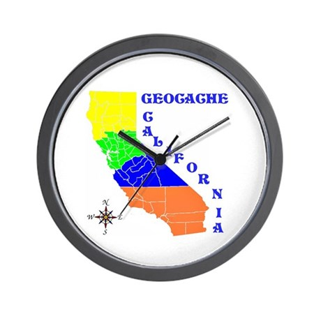 Geocache California Wall Clock