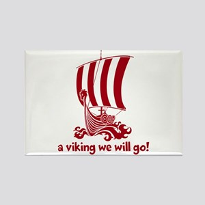 Viking (red) Rectangle Magnet